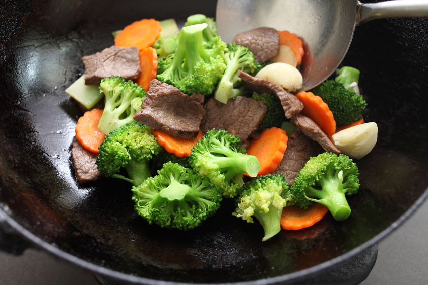 chinese cuisine, broccoli and beef stir fried