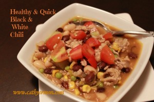 Healthy Recipe: Quick Black & White Chili