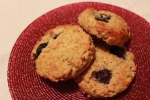 Gluten Free Blueberry Oat Scones