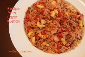 Recipe from Egypt Koshari