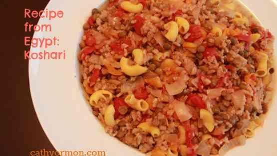 Gluten Free Recipe from Egypt:  Koshari