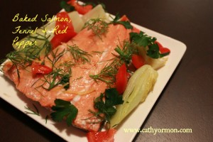 Baked Salmon, Fennel & Red Pepper
