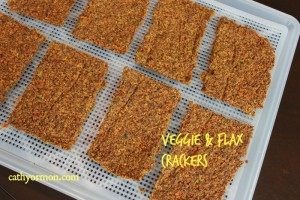 Veggie & Flax Seed Crackers