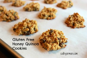 Gluten Free Honey Quinoa Cookies