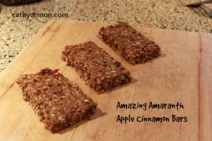 Amazing Amaranth Apple Bars