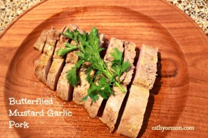 Butterflied Mustard Garlic Pork
