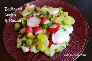 Buttered Leeks and Radish