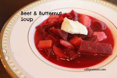 Beets and Butternut Soup