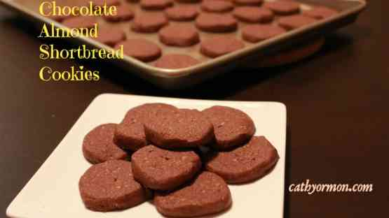 Chocolate Almond Shortbread, Gluten Free