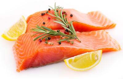 Omega 3 Fatty Acids - 2 pieces of raw Salmon