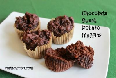 Chocolate Sweet Potato Muffins - Gluten Free!