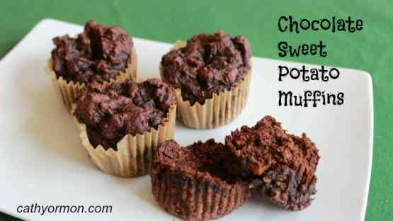 Chocolate Sweet Potato Muffins - Gluten Free!
