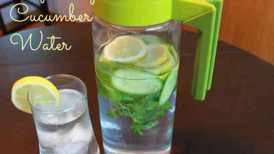 Refreshing Cucumber Water with Lemon & Mint
