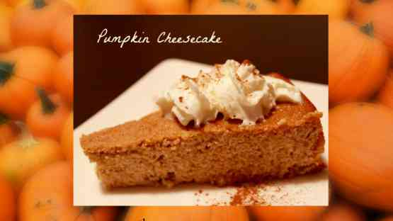 Pumpkin Cheesecake - Gluten Free