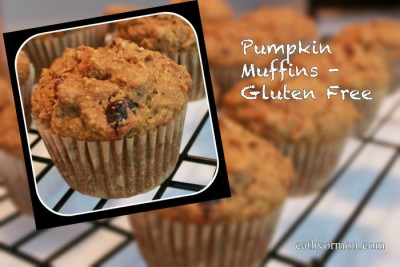 Pumpkin Muffins - close up and in the background