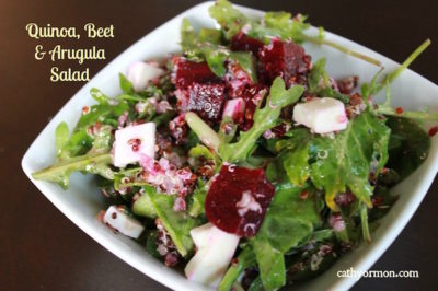 Arugula Salad with Quinoa and Beets
