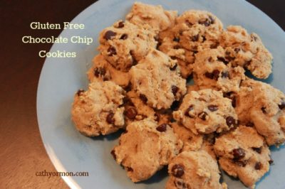 Plate of Gluten Free Chocolate Chip Cookies