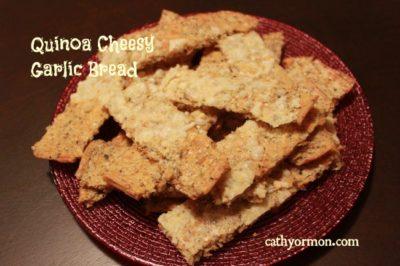 Quinoa Cheesy Garlic Bread Sticks
