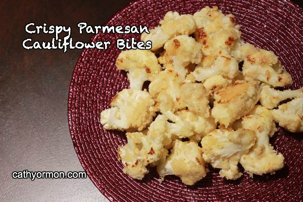 Crispy parmesan cheese bites of cauliflower